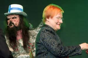 Presidentti Tarja Halonen ja Lordi